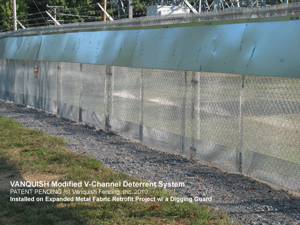 expanded metal fence, stop animals